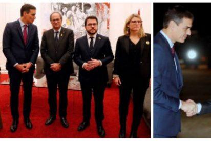Pedro Sánchez se vende al golpismo: estas son las fotos de su claudicación y de su indignidad