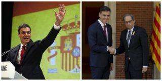 Sánchez, menos envolverte en la bandera española y quítate a tus socios golpistas convocando elecciones
