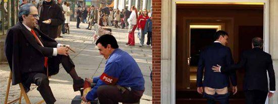 El 'okupa' Sánchez ocultó que el xenófobo Torra le propuso mediación externa y otro referéndum