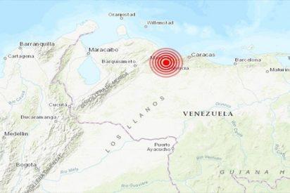 Imágenes del potente sismo que ha sacudido Caracas