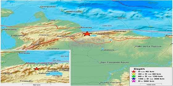 Un temblor de 4.9 grados sacude a Venezuela