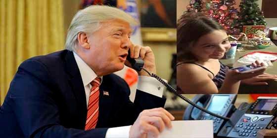 """La niña de 7 años que habló con """"el Grinch"""" Donald Trump aseguró que aún cree en Santa Claus"""