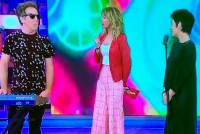 Momento de tensión en 'Viva la vida' durante la actuación del dúo Shica y Gutman