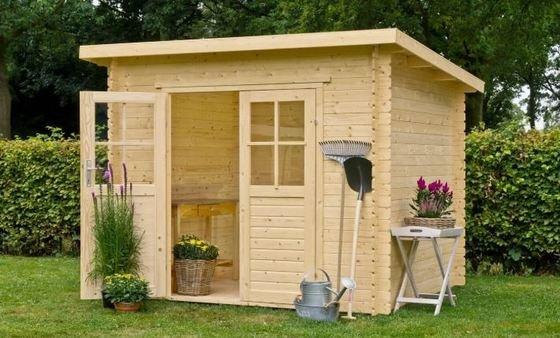 Casetas de madera techo cuadrado