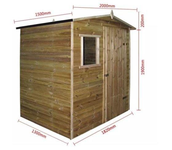 Casetas de madera para jardín tamaños