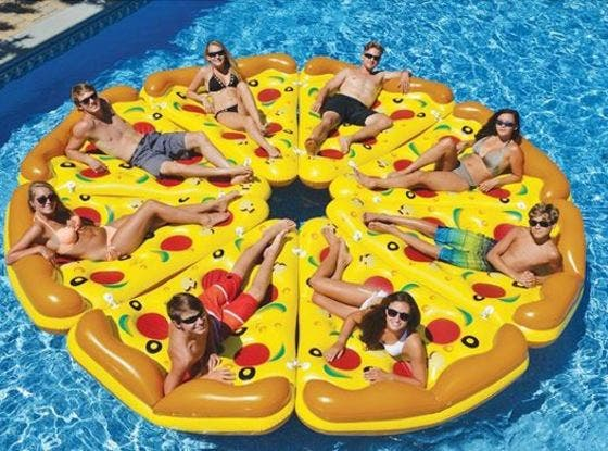 colchoneta porción pizza