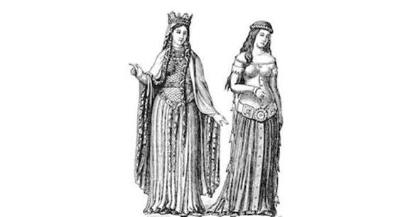 vestidos largos Edad Media