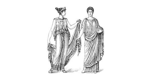 vestidos largos romanos