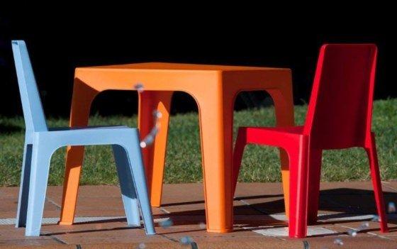 muebles de jardín de plástico