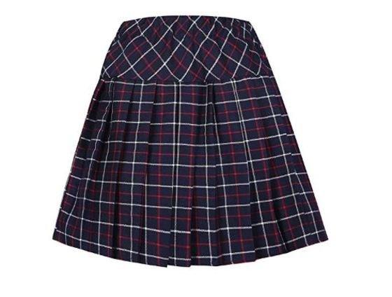 falda escocesa uniforme escolar