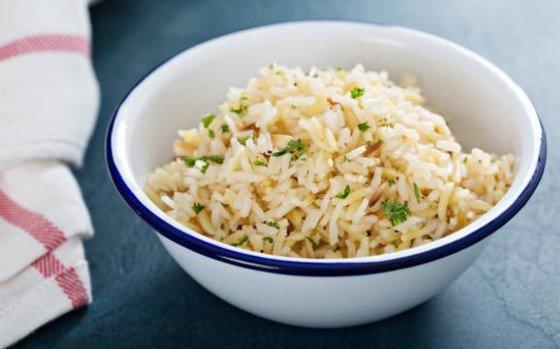 cuenco de arroz pilaf