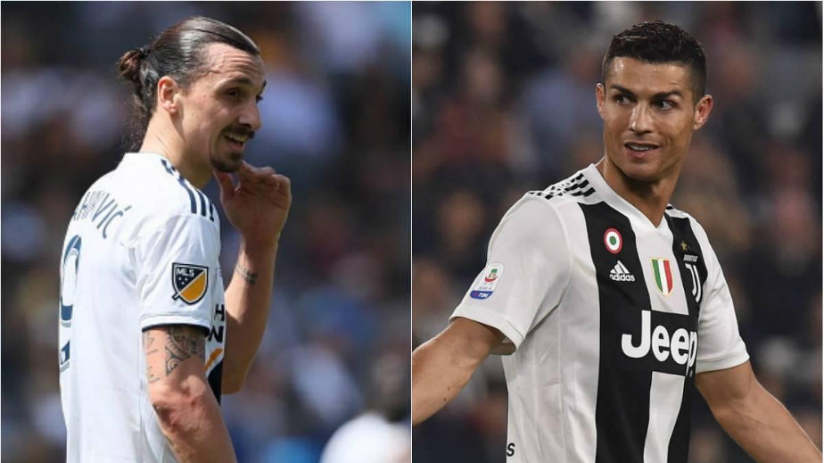 Zlatan Ibrahimovic se burla de Cristiano Ronaldo por irse a la Juventus