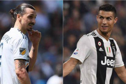 """La respuesta de Zlatan Ibrahimovic a Cristiano Ronaldo: """"Ir a la Juventus no es un desafío, es una tontería"""""""