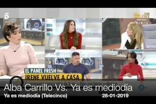 Alba Carrillo metiéndole a 'Ya es mediodía' y Telecinco