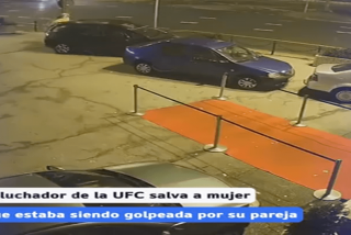 Este ex luchador de UFC salva a una mujer de una agresión en plena calle
