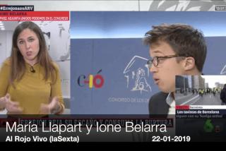 Ione Belarra es pura soberbia cuando le nombran a Errejón...