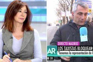 Ana Rosa 'pincha las ruedas' al taxista que se pone chulo contra medios y periodistas en su propio programa