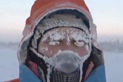 Este atleta solidario recorre 50 kilómetros a -60 ºC en Siberia