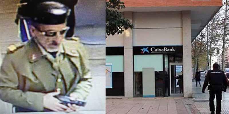 La Policía Nacional trinca al atracador que 'limpió' un banco en Badajoz disfrazado de Guardia Civil