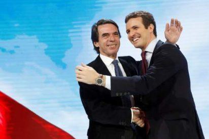 """Aznar carga duramente contra Sánchez y elogia a Casado:""""Eres un líder como un castillo, sin tutelas ni tutías"""""""
