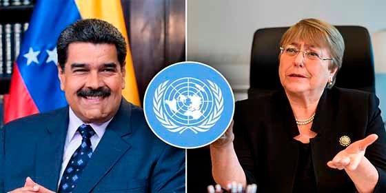 La ONU confirma que el dictador Nicolás Maduro invitó a Michelle Bachelet a Venezuela
