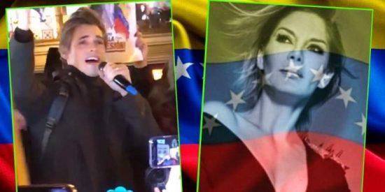 Carlos Baute e Ivonne Reyes lideran la lucha a favor de Juan Guaidó en España