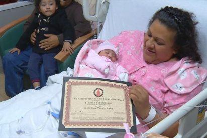 Un bebé latinoamericano gana una beca de 10.000 dólares al nacer en los primeros 20 segundos de 2019
