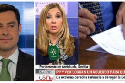Bonilla, espabila: Canal Sur quema sus últimos cartuchos socialistas cargando contra el pacto con Vox