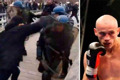Francia: Un campeón de boxeo se une a los 'chalecos amarillos' y apalea a policías