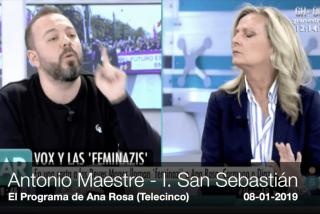 Tremendo: el 'falso obrero' y 'falso feminista' intenta darle lecciones de feminismo a Isabel San Sebastián