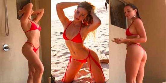"""El """"blooper"""" más sensual que protagonizó la modelo de Instagram Charly Jordan"""