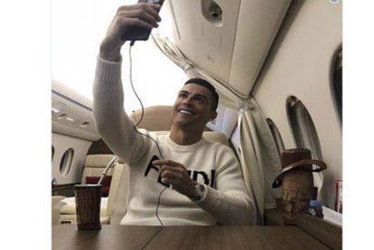 Le llueven las críticas a Cristiano por subir esta foto en sus jet tras la desaparición del avión de Emiliano Sala