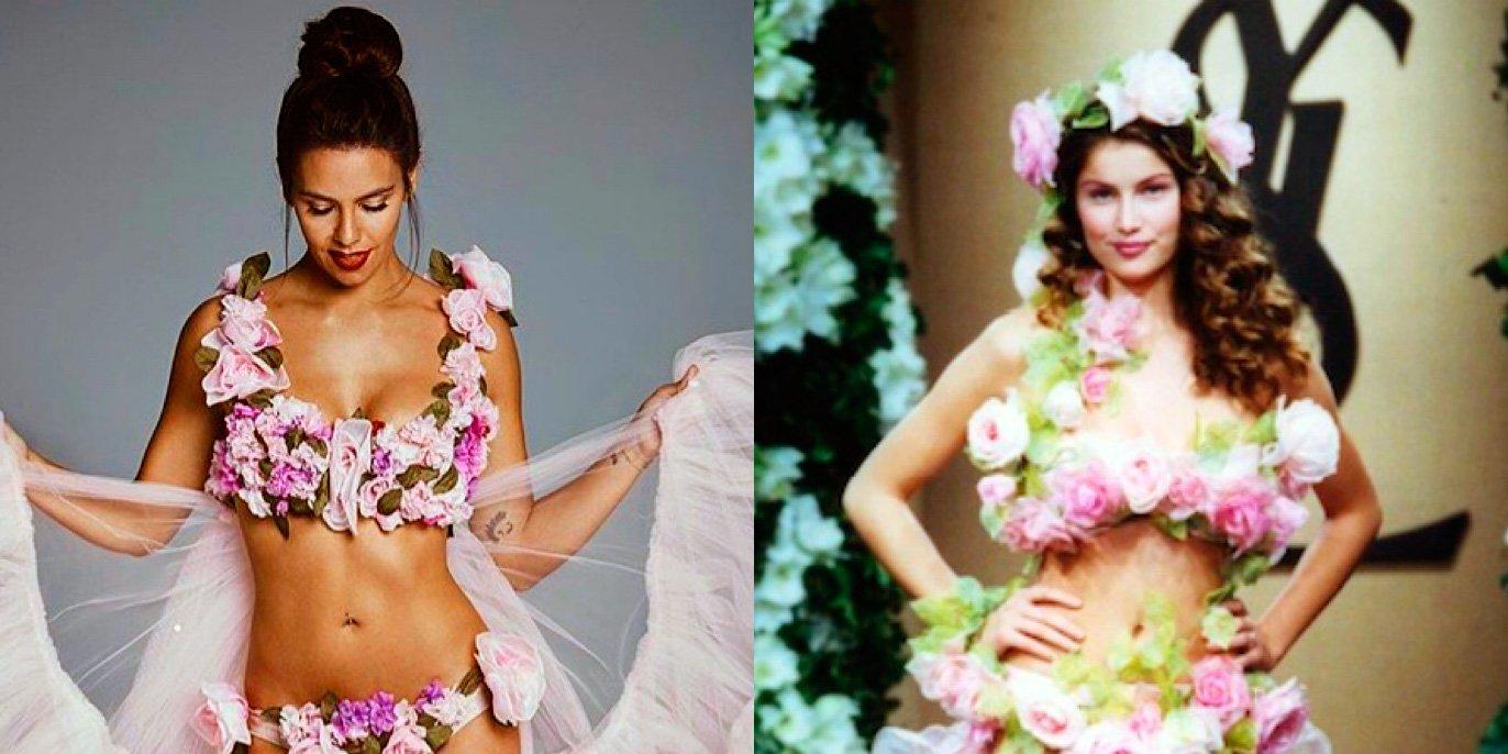 El vestido de Cristina Pedroche, una escandalosa copia del de Laetitia Casta para YSL