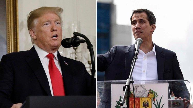 Juan Guaidó conversa con Donald Trump sobre la crisis venezolana