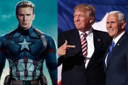 """Capitán América llama """"gusano"""" al vicepresidente de EE.UU."""