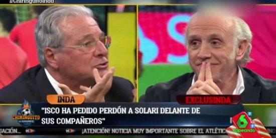 """El Chiringuito: """"La diferencia entre nosotros es que yo sí he olido el culo a los jugadores del Madrid"""""""