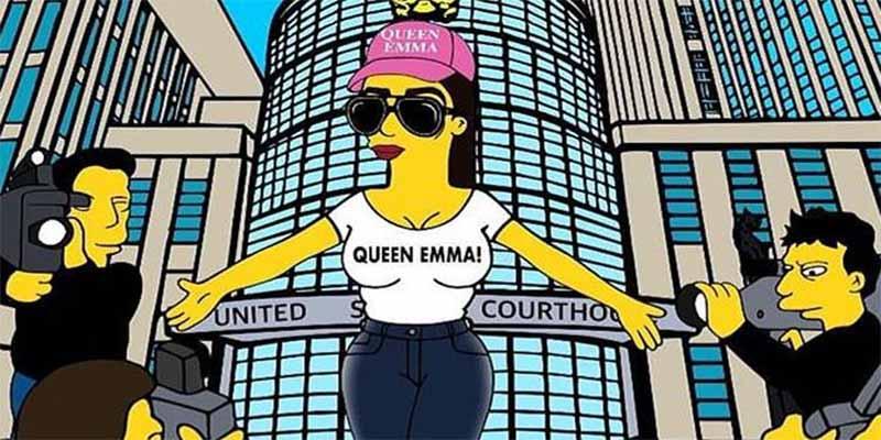 Santifican a Emma Coronel, la esposa de 'El Chapo', convirtiéndola en personaje de 'Los Simpson'