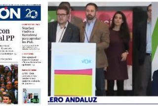 """Espinosa de los Monteros (VOX): """"Por titulares como los de La Razón es la prensa la que está perdiendo mucha credibilidad"""""""
