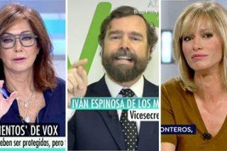"""Megabronca televisiva del portavoz de VOX en Telecinco y Antena3 enfrentándose contra todos: """"¡Queréis que nosotros y 400.000 andaluces no hablemos!"""""""