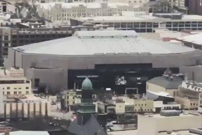 Así fue la impresionante demolición de uno de los estadios más antiguos de la NBA