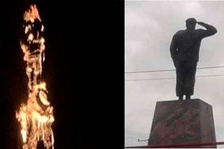 Venezuela: Queman la estatua de Chávez e internet revienta en memes