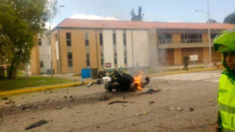 Atentado bomba en escuela de Policía en Bogotá