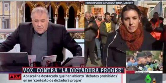 Irene Montero le dice a Ferreras cómo tiene que hacer su trabajo respecto a VOX y el periodista no le dice ni pío