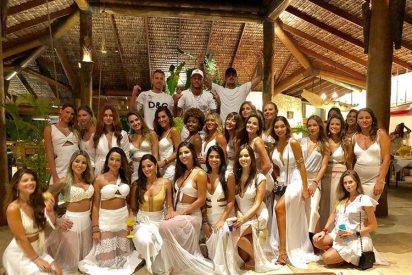 Neymar celebra con 26 mujeres su exclusiva fiesta de fin año