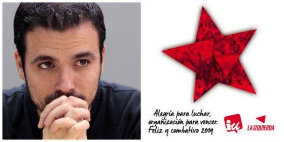Garzón felicita el año nuevo exigiendo más compromiso a los militantes de IU y le cae la del pulpo