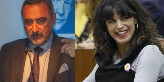 """Espectacular cabreo de Herrera con las inaceptables palabras de Teresa Rodríguez haciéndose la """"graciosa"""" con Santiago Abascal"""