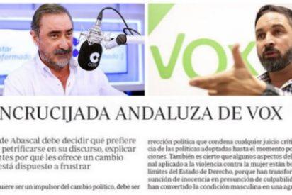 Carlos Herrera hace suyo el editorial de ABC para obligar a Vox a un trágala indecente en la Junta de Andalucía