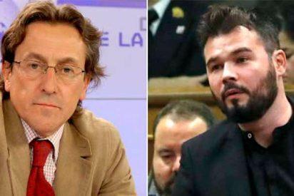 El periodista Hermann Tertsch amarga al indepe Gabriel Rufián el cumpleaños de Marta Rovira
