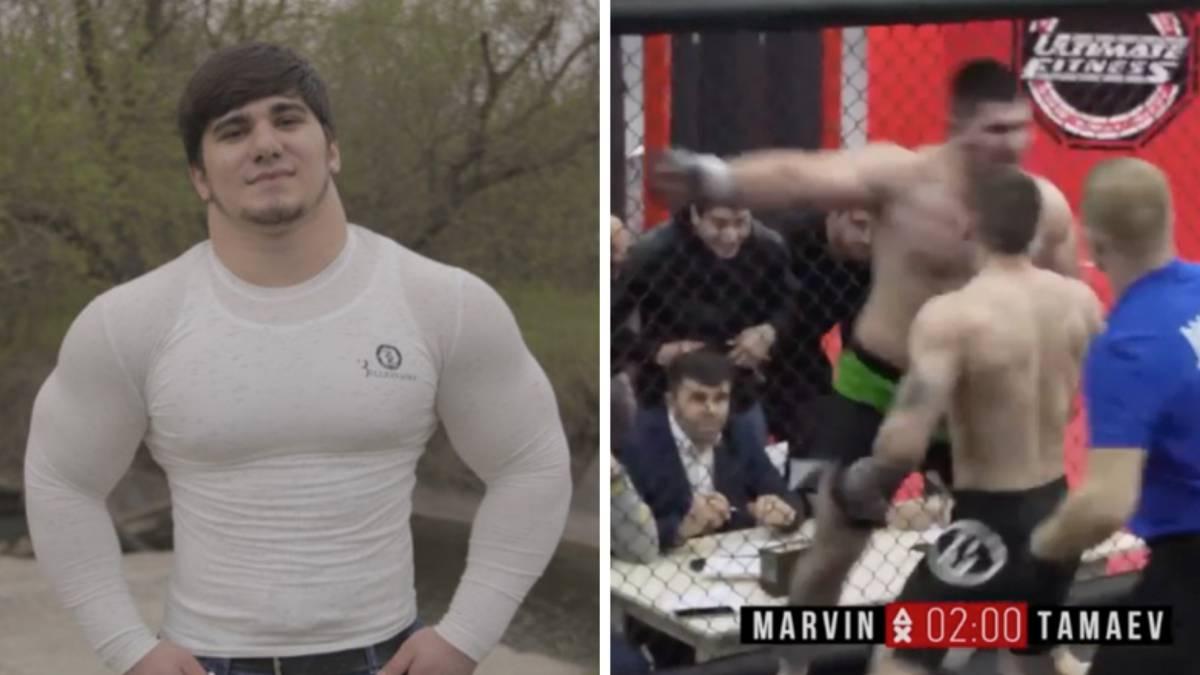 """El """"Hulk"""" ruso de 17 años debuta en la MMA con un salvaje nocaut"""