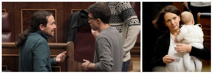Cinco años de Podemos y al final el único serio ha sido el bebé de Bescansa que ni siquiera berreó en el Congreso